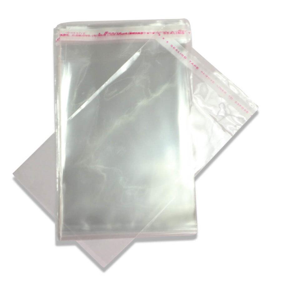 שקית צלופן עם דבק (100 יח) 50/60