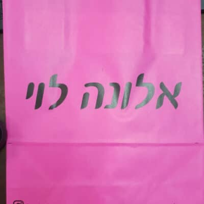 שקיות נייר ממותגות – אלונה לוי